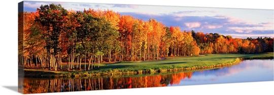 Fall Golf Course New England