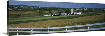Farmhouse in a field, Amish Farms, Lancaster County, Pennsylvania