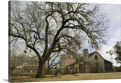 Farmhouse on a landscape, Living History Farms, Lyndon B Johnson National Historical Park, Johnson City, Texas