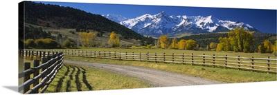 Fence along a road, Sneffels Range, Colorado