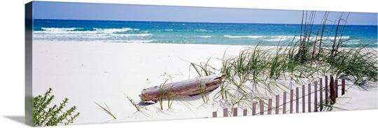 Fence on the beach, Alabama, Gulf of Mexico