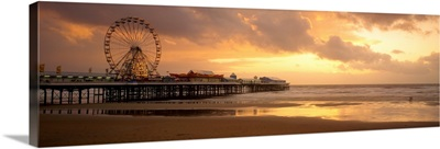 Ferris wheel near a pier, Central Pier, Blackpool, Lancashire, England
