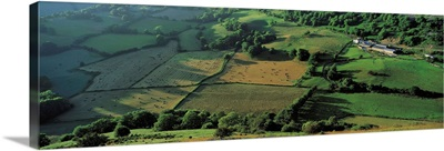 Fields Vale of Llangollen Denbighshire Wales