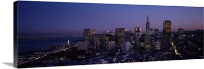 Financial District night San Francisco CA USA
