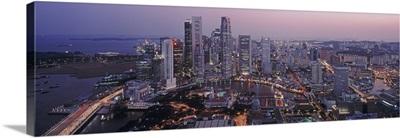 Financial District Skyline Singapore