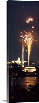 Fireworks display at night, Washington DC