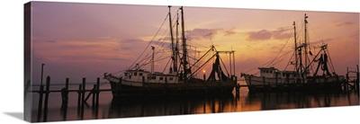 Fishing boats in a river, Amelia River, Fernandina Beach, Nassau County, Florida