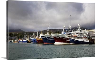 Fishing Boats in the Harbour, Castletownberehaven, Beara Peninsula, County Cork, Ireland