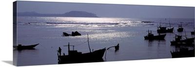 Fishing Boats Indian Ocean Sri Lanka