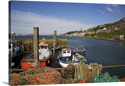 Fishing Harbour at the Pilot Boast Qauy, Cobh, County Cork, Ireland