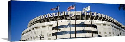 Flags in front of a stadium, Yankee Stadium, New York City, New York