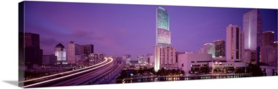 Florida, Miami, City in the dusk