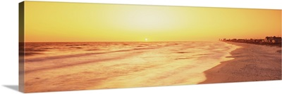 Florida, View of sunset from a beach