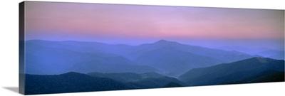Fog over mountains, Pisgah National Forest, North Carolina