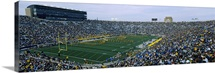 Football stadium full of spectators, Notre Dame Stadium, South Bend, Indiana