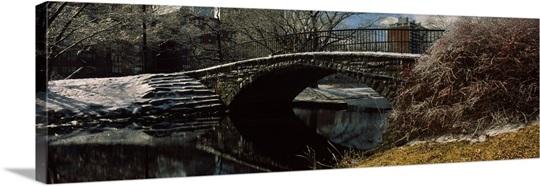 Footbridge Storrow Lagoon Boston MA USA