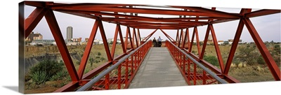 Footbridge with a city in the background Big Hole Kimberley Northern Cape Province South Africa