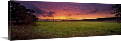 Forest Of Bowland at sunset, Lancashire, England