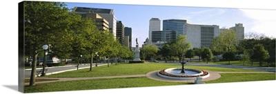 Fountain in a park, Austin, Texas
