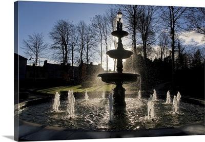 Fountain in the Millennium Garden, Lismore, County Waterford, Ireland