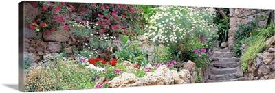 Garden Old Town Tossa De Mar Costa Brava Spain
