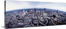 Georgia, Atlanta, Aerial view of the city