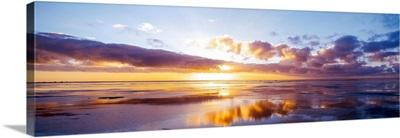 Germany, North Sea, sunrise on beach
