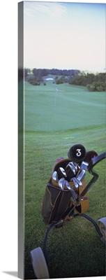 Golf clubs in a golf bag, Santo da Serra Course, Santo da Serra, Madeira, Portugal