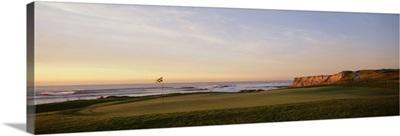 Golf course on the coast, Half Moon Bay, California