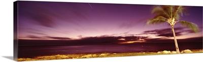 Hawaii, Oahu, Sea in the evening