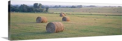 Hay bales in a field, Jackson County, Kansas