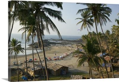 High angle view of a beach, Vagator Beach, Goa, India
