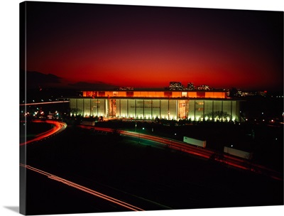 High angle view of a building lit up at night, John F. Kennedy Center for the Performing Arts, Washington DC