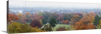 High angle view of a cemetery, Arlington National Cemetery, Washington DC