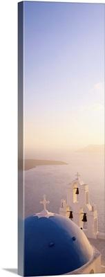 High angle view of a church, Firostefani, Santorini, Cyclades Islands, Greece II