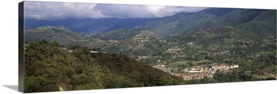 High angle view of a city Andes Merida Merida State Venezuela
