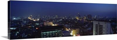 High angle view of a city, Bangkok, Thailand