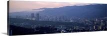 High angle view of a city Caracas Venezuela 2010
