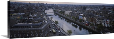 High angle view of a city, Dublin, Leinster Province, Republic of Ireland