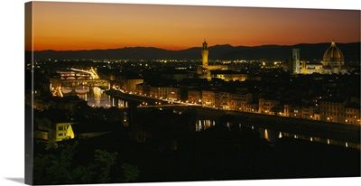 High angle view of a city, Florence, Tuscany, Italy