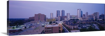 High angle view of a city, Fort Worth, Texas