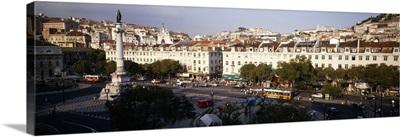 High angle view of a city, Lisbon, Portugal