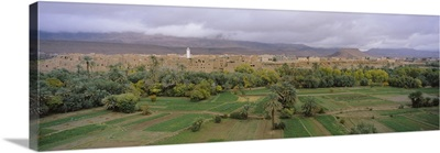 High angle view of a city, Long Green Valley, Tinerhir, Morocco