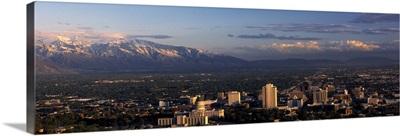 High angle view of a city, Salt Lake City, Utah