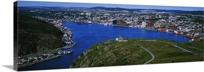High Angle View Of A City, Signal Hill, Saint Johns, Newfoundland And Labrador, Canada