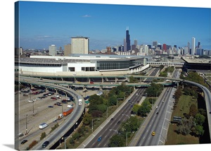 High Angle View Of A Convention Center Mccormick Place Lakeside Chicago Illinois Wall Art