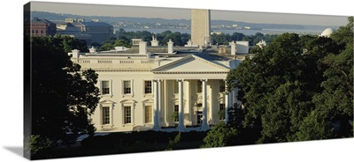 High angle view of a government building, White House, Washington DC