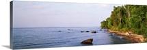 High angle view of a lake, Lake Superior, Wilderness State Park, Upper Peninsula, Louisiana, Rhode Island, Oregon