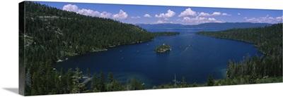 High angle view of a lake, Lake Tahoe, California