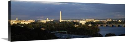 High angle view of a monument, Washington Monument, Potomac River, Washington DC